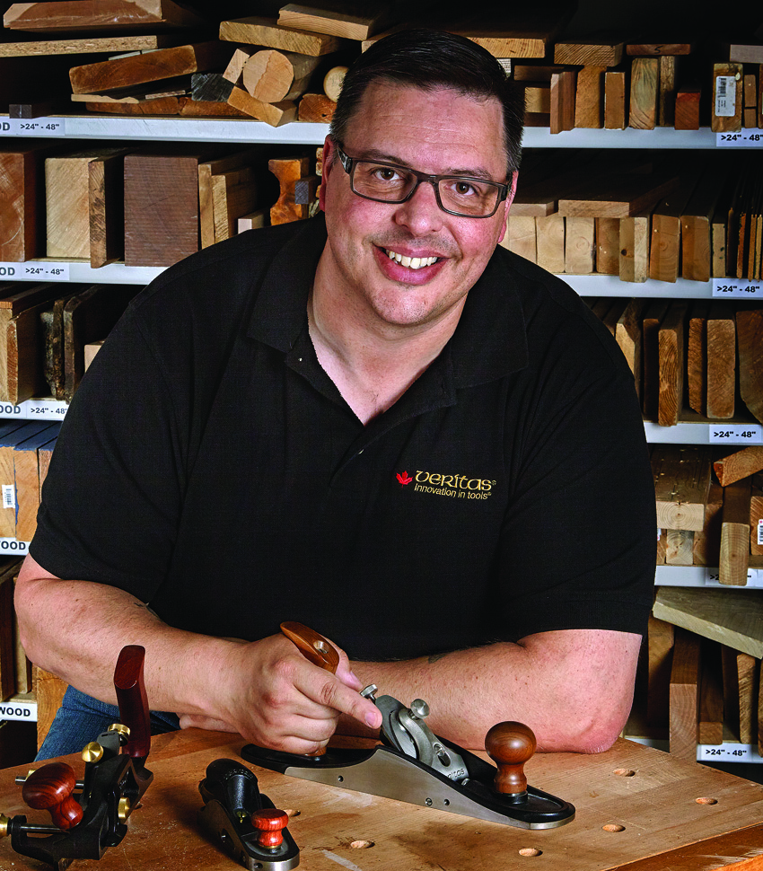 Woodworker with plane